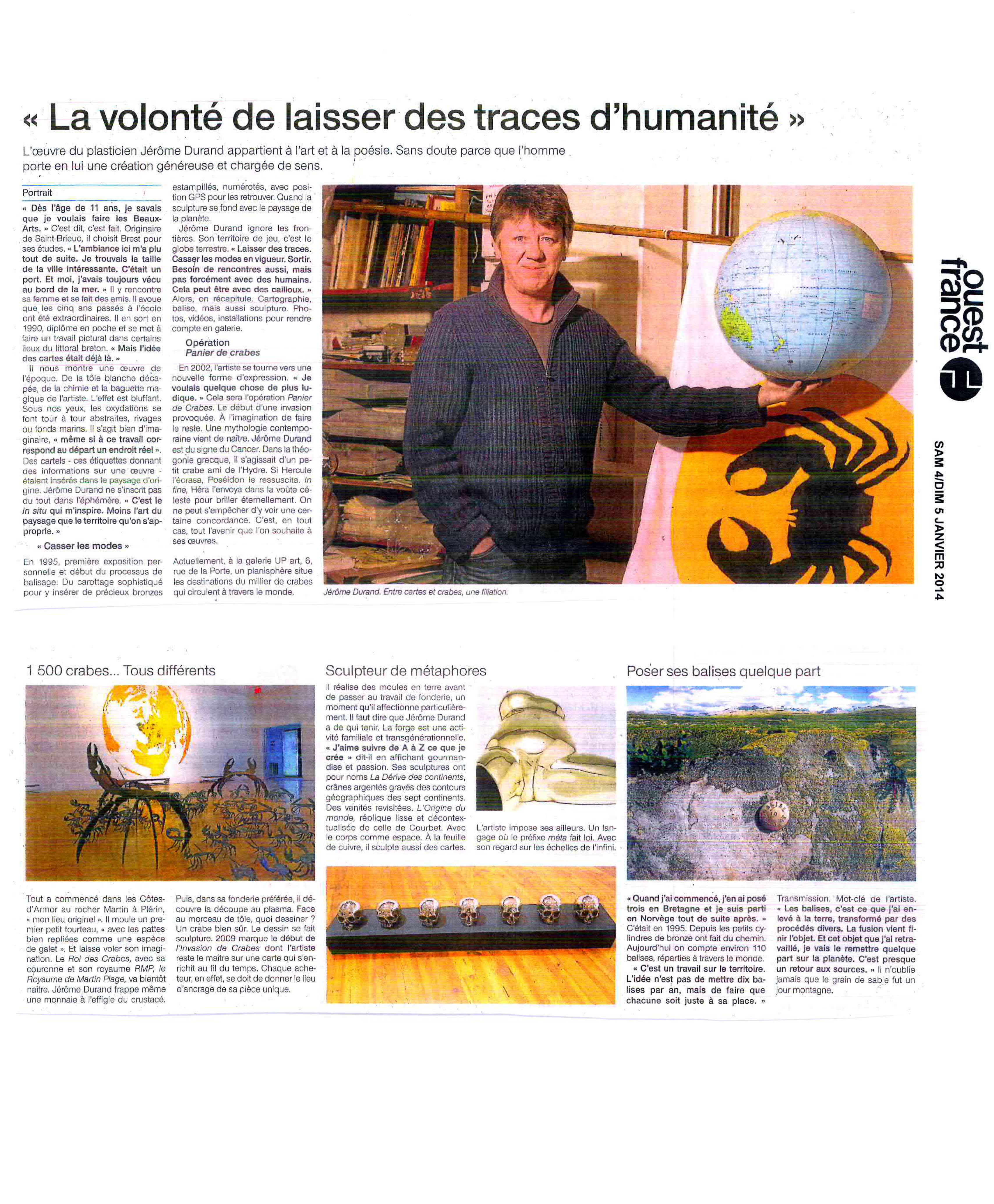 Jérôme Durand, Presse Ouest-France