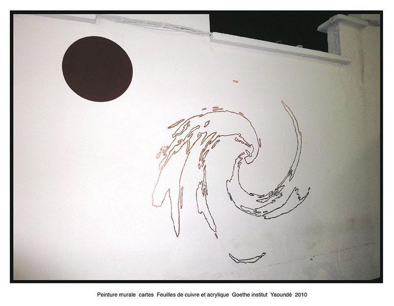 Wall drawning, Gœthe Institute, Cameroun, 2010