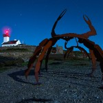 Exposition sur l'île Wrac'h, été 2014 © Mathieu Le Gall